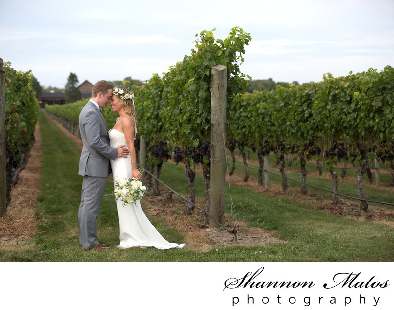Vineyard wedding at Newport Vineyards
