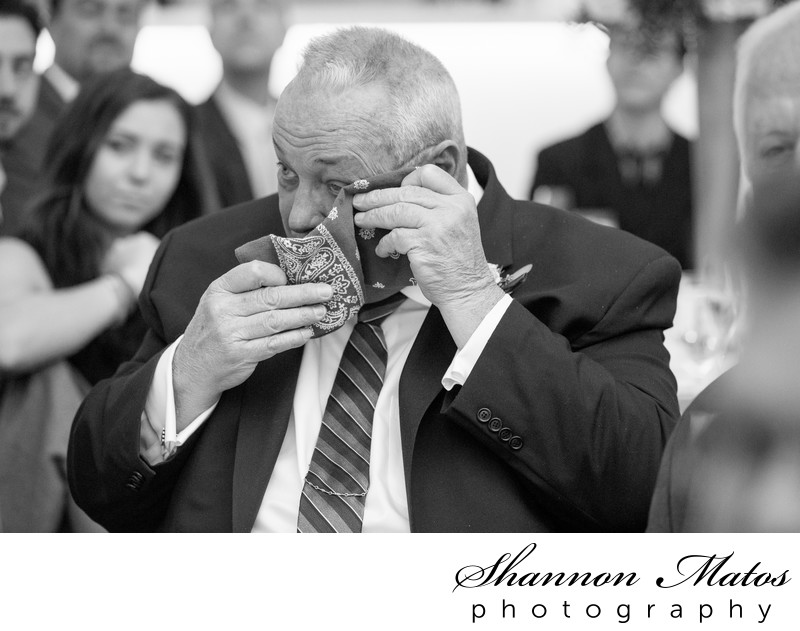 Happy tears at Lakeview Pavilion Wedding