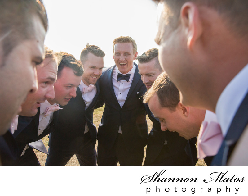 Groomsmen at OceanCliff Newport RI