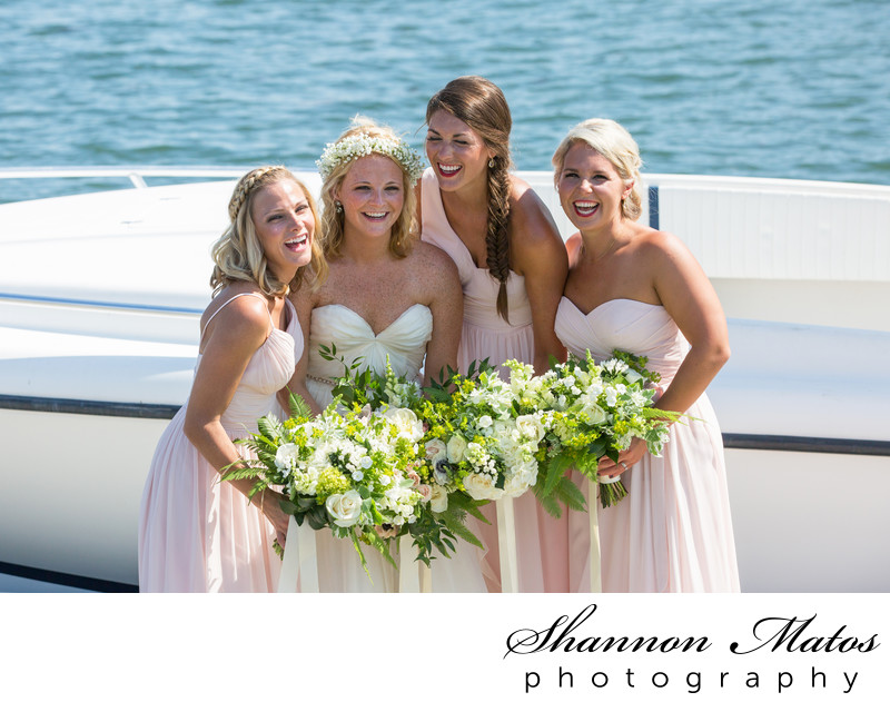 Bridesmaids at Conanicut Marine, Jamestown, RI