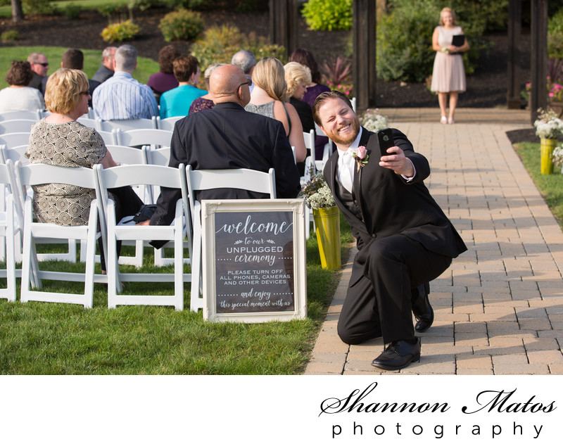 Wedding ceremony at the Colonial Hotel in Gardner MA