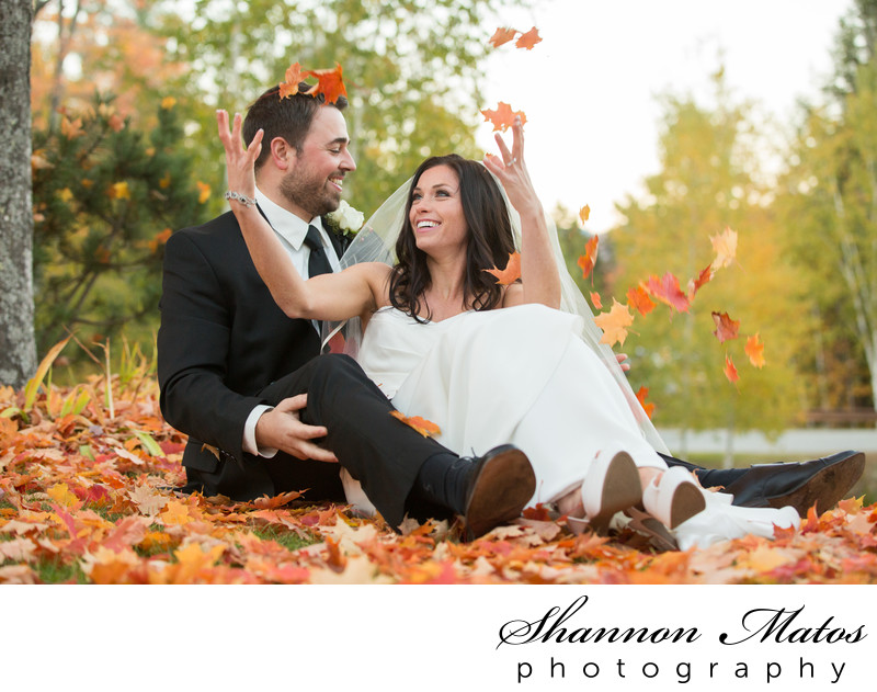 Fall wedding at Sunday River in Maine