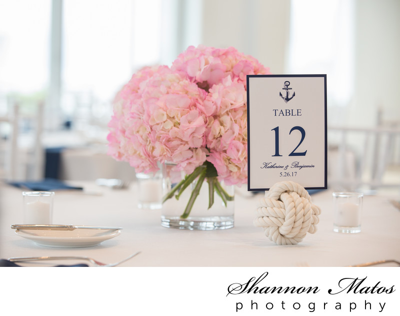 Pink hydrangeas wedding centerpiece boston and new