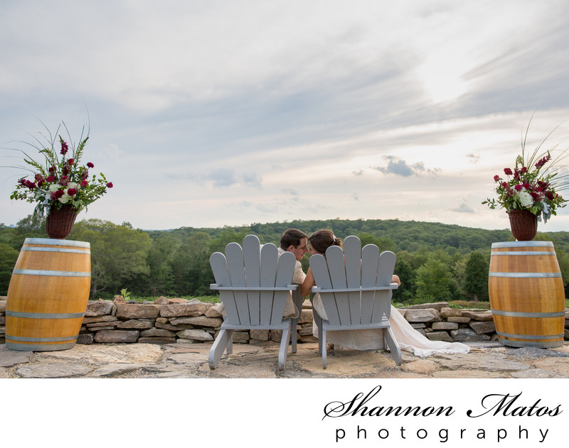 Adirondack chairs at Preston Ridge Vineyards