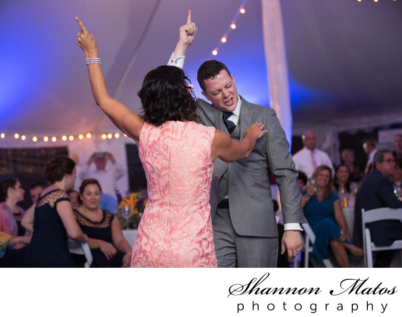 Mother Son dance at a Bristol, RI Wedding