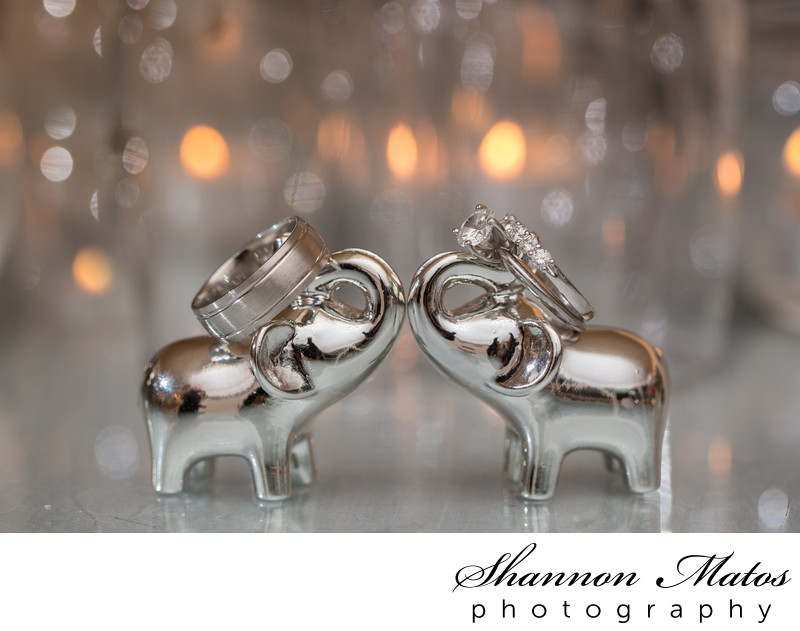 Silver Elephant Place Card Holders
