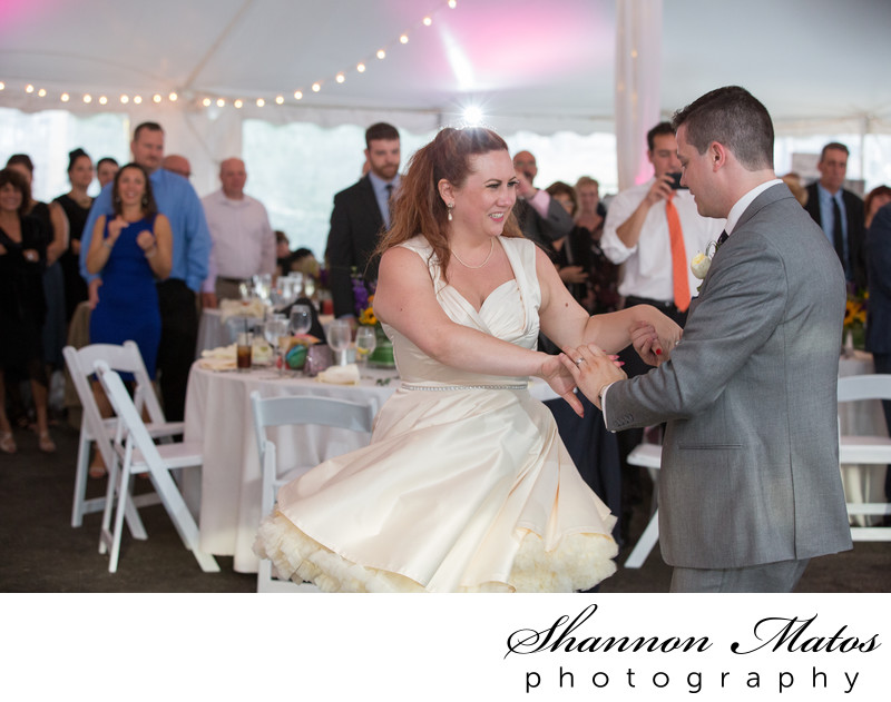 Tent wedding at The Herreshoff Marine Museum