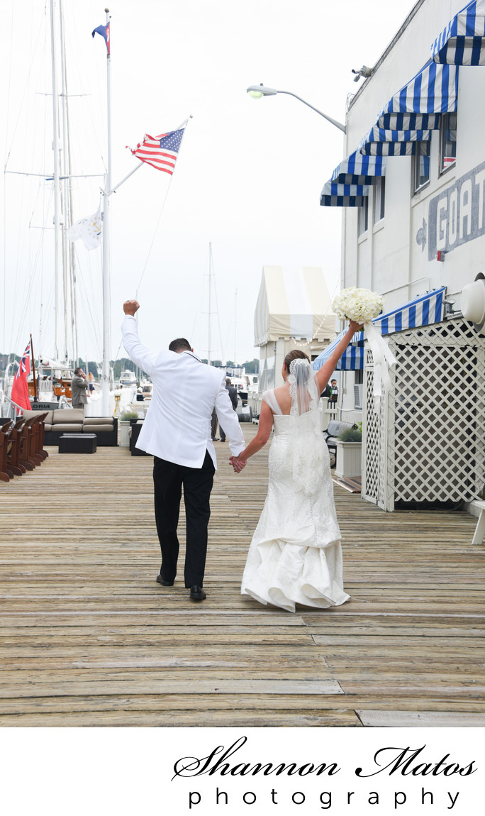 Nautical wedding at Regatta Place in Newport RI