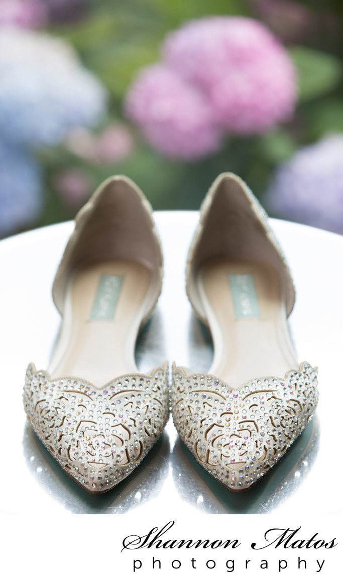 White and Crystal Wedding Shoes