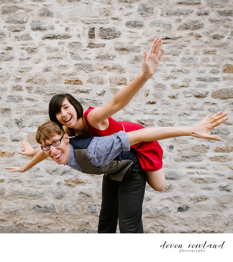 Adorable Swing Dance Couple Pic in Montreal, Canada