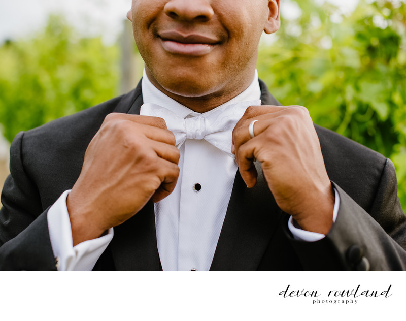 Dapper AF Groom at 8 Chains North Winery, Virginia