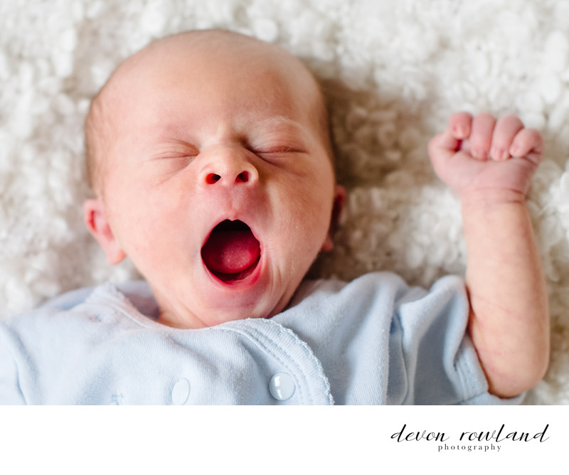 Newborn Photography is Hard Work for this Little One