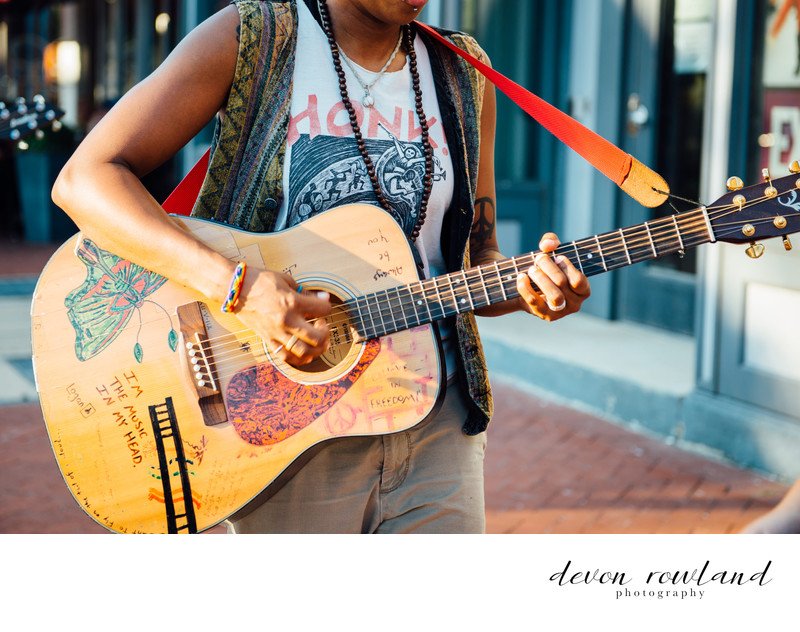 Street Photography of Musician in DC