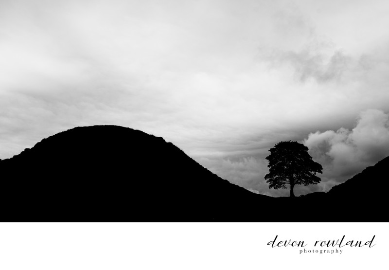 Dramatic Black and White Landscape Photo Hadrian's Wall
