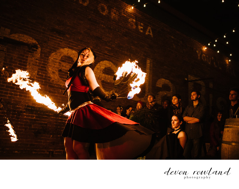 Fire Photography Fans Performance at Gallery on O