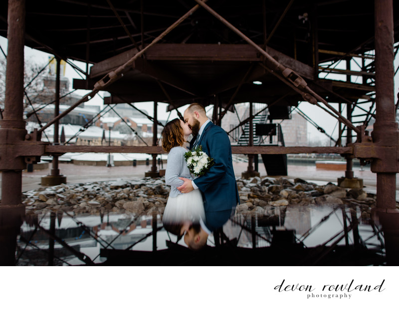 Artistic, Offbeat Wedding in Baltimore Inner Harbor