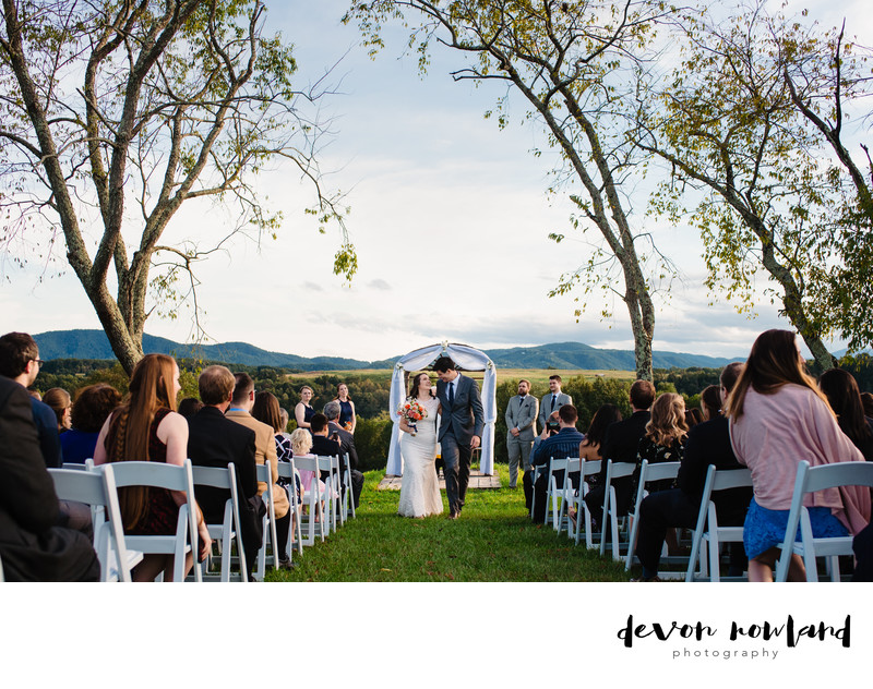 Mountain views for Roanoke marriage ceremony photograph