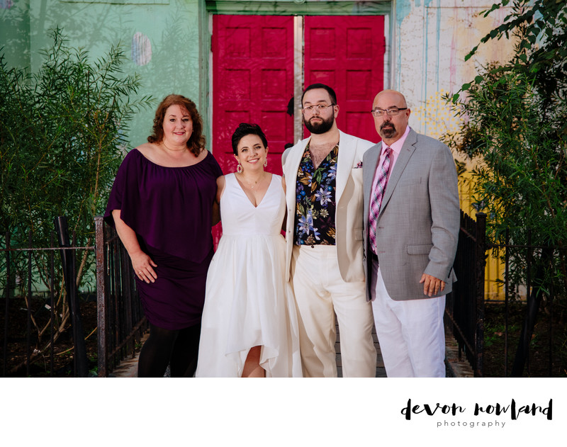DC wedding photo with the fam