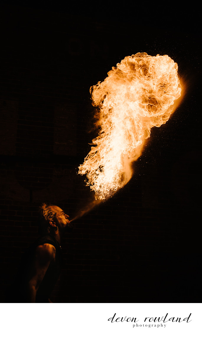 Fire Photo of Fire Breather in Washington, DC Show