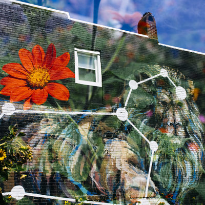 Baltimore fine art street photography double exposure