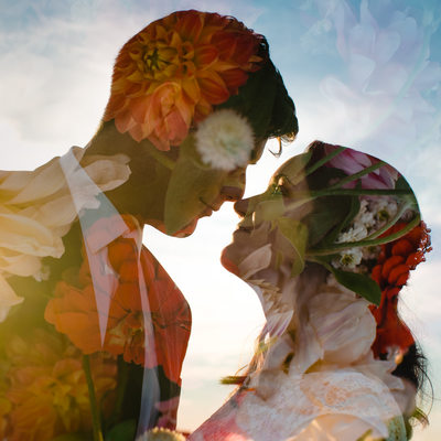 Roanoke Wedding Photographer artistic double exposure