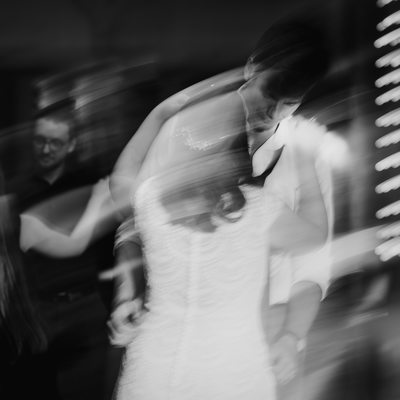 Artistic black and white Glenburn Farms wedding pic