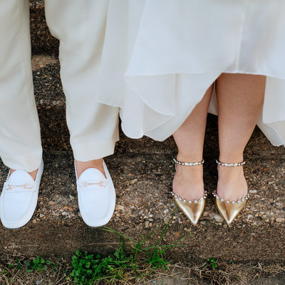 DC wedding day shoes with panache