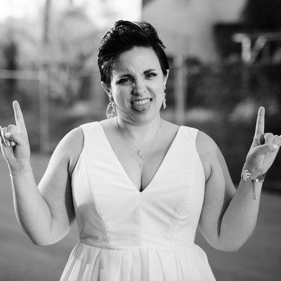 Rock and roll DC bride