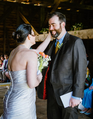 Maryland Barn Wedding: Tender Moment and Rustic Decor