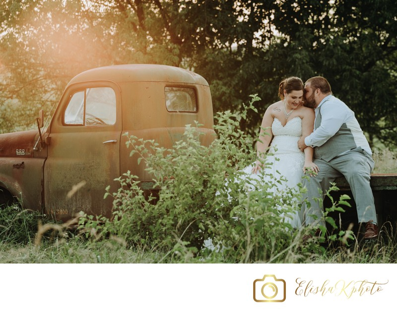 Rustic Sunset Wedding Pictures