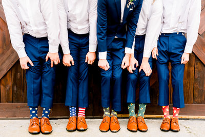 The Groom the Groomsman and the Socks
