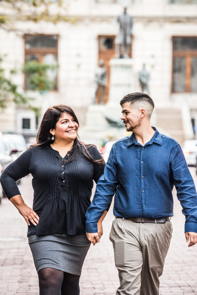Downtown Indianapolis Engagement Session