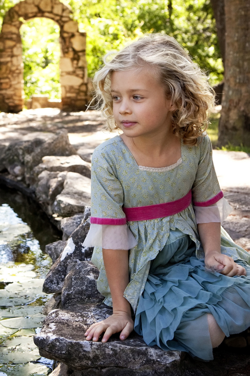 girl by the pond