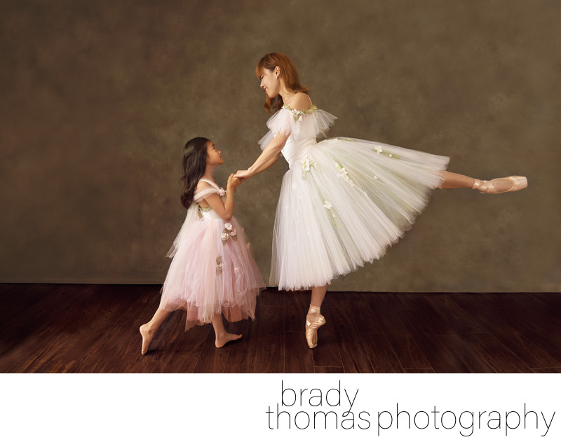 Mother daughter fine art ballet portrait