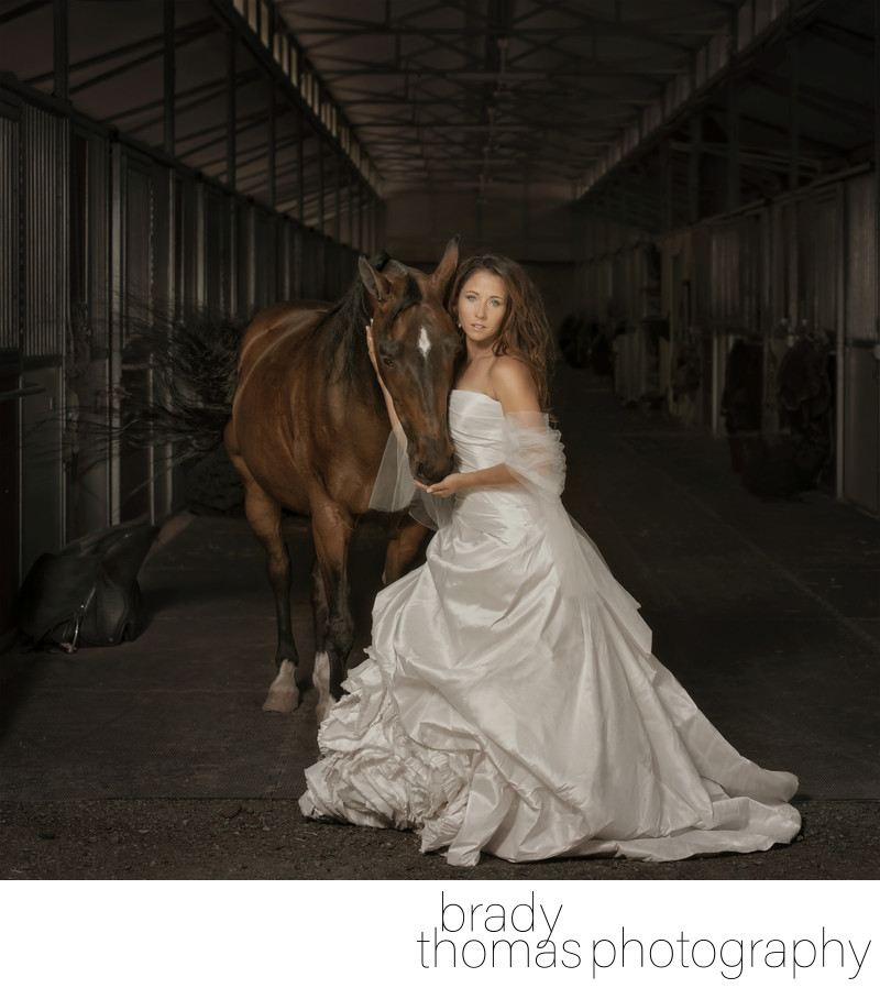 Horse and Bride Fine Art Photograph