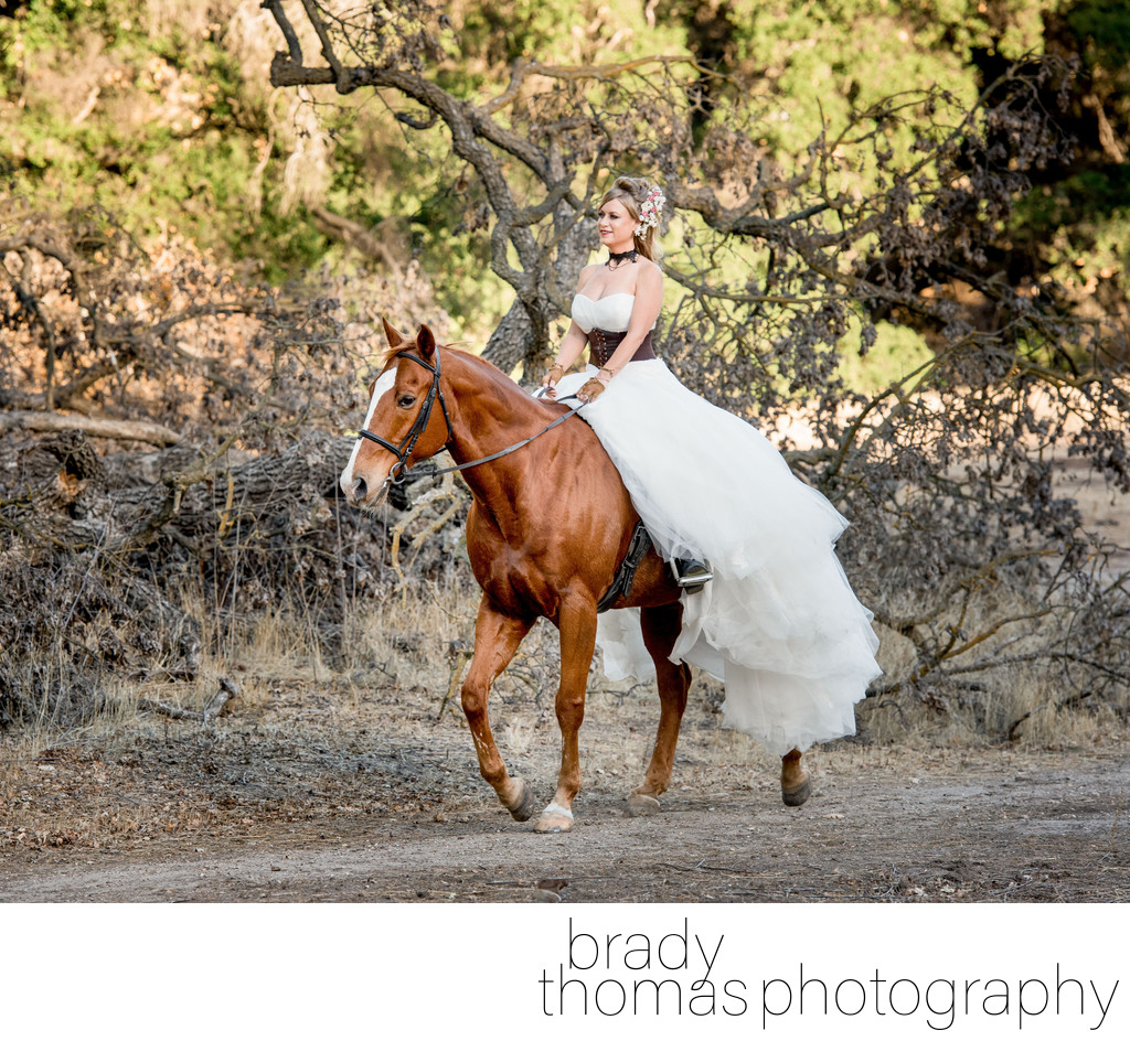 Horse Bride Photography Agoura Hils