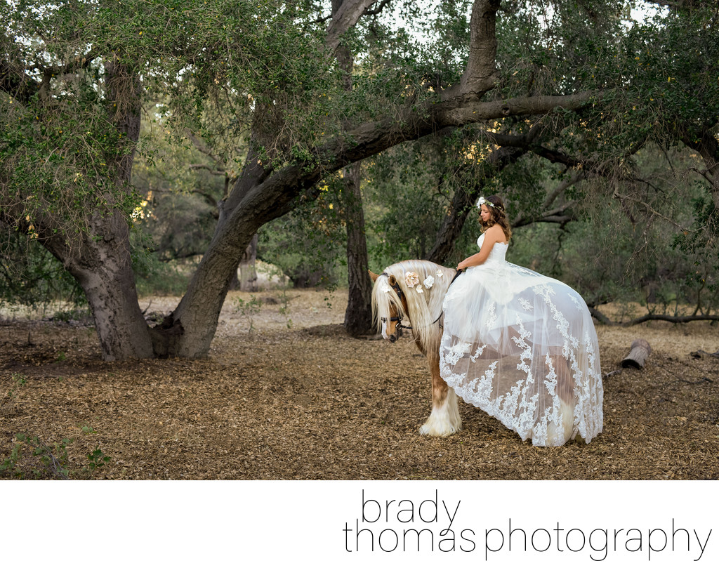 Horse Bride Photography Agoura Hills