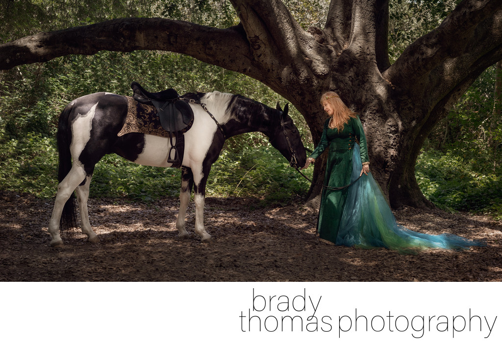 Photos in Costume with Horse