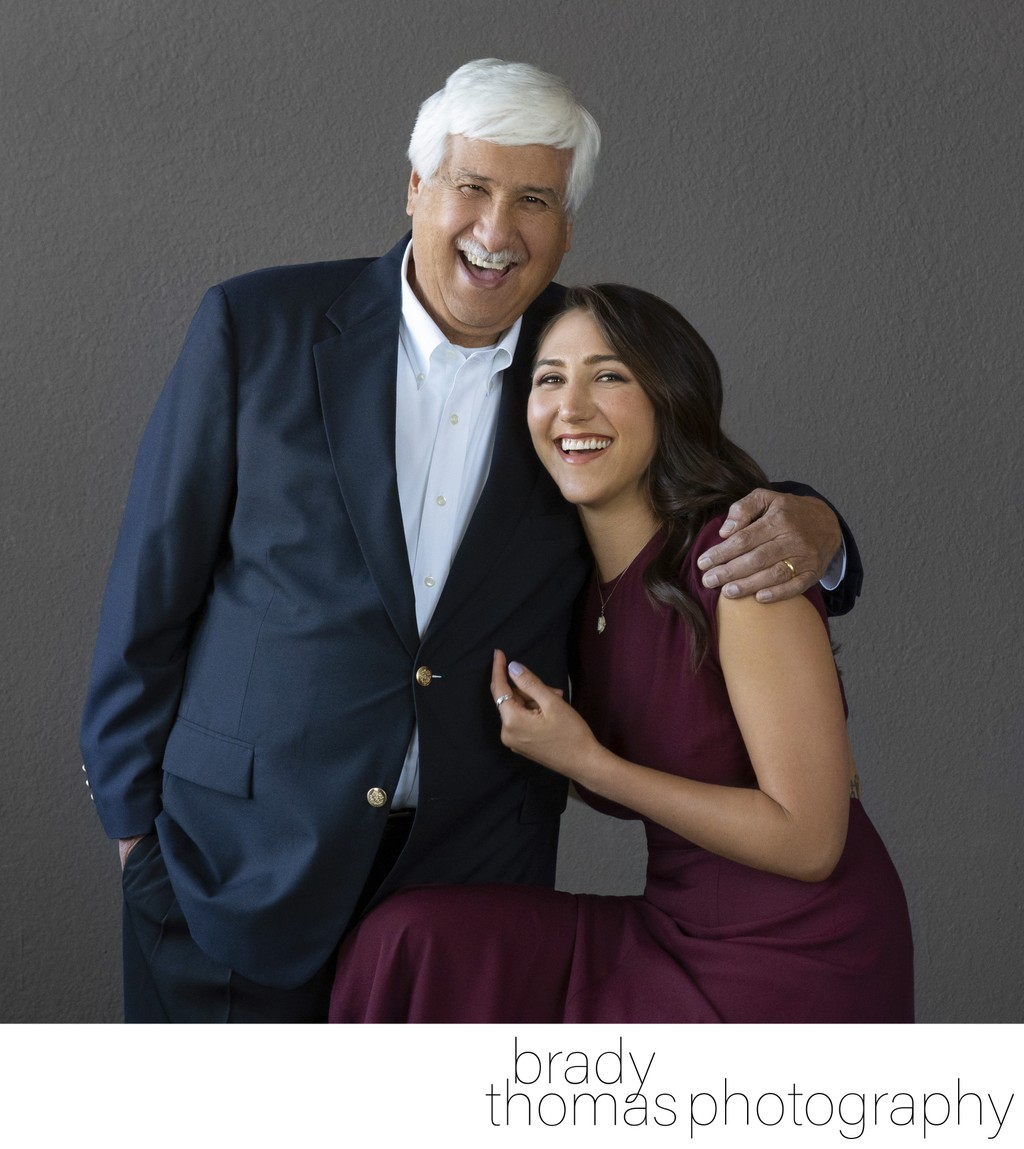 Studio Photo of Dad and Daughter