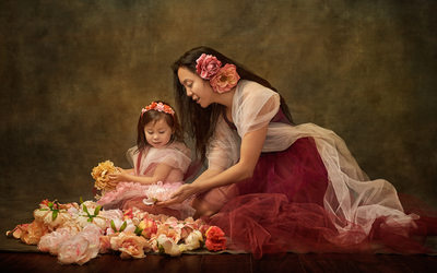 Fine Art Photograph Looks Like A Painting Mother Daughter