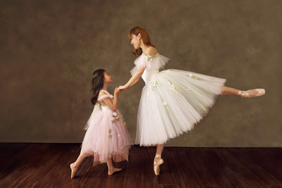 Mother and Daughter Fine Art Ballet Portrait