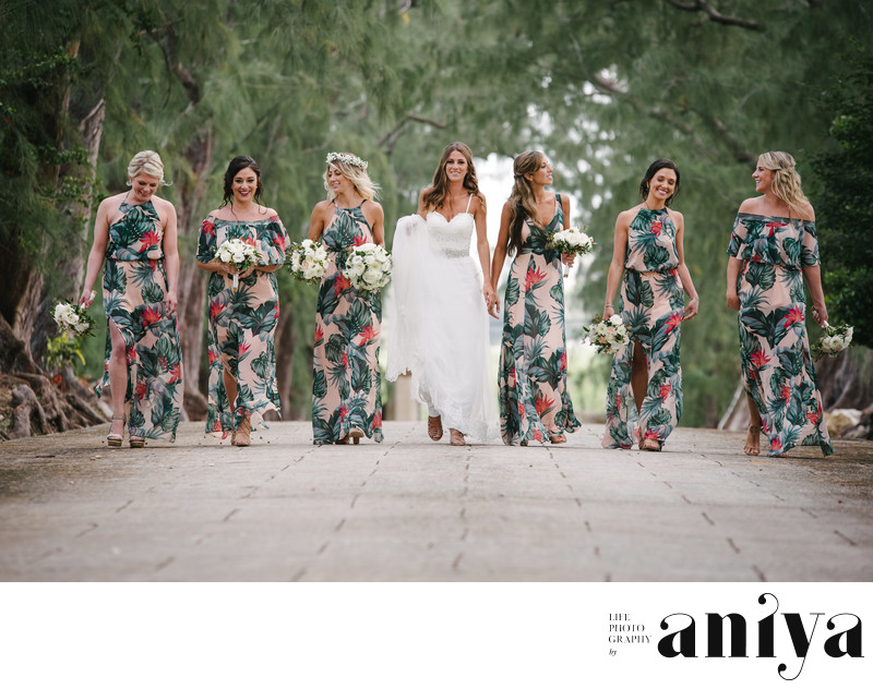 Bridesmaids at Halton Great House - Barbados Wedding Photography