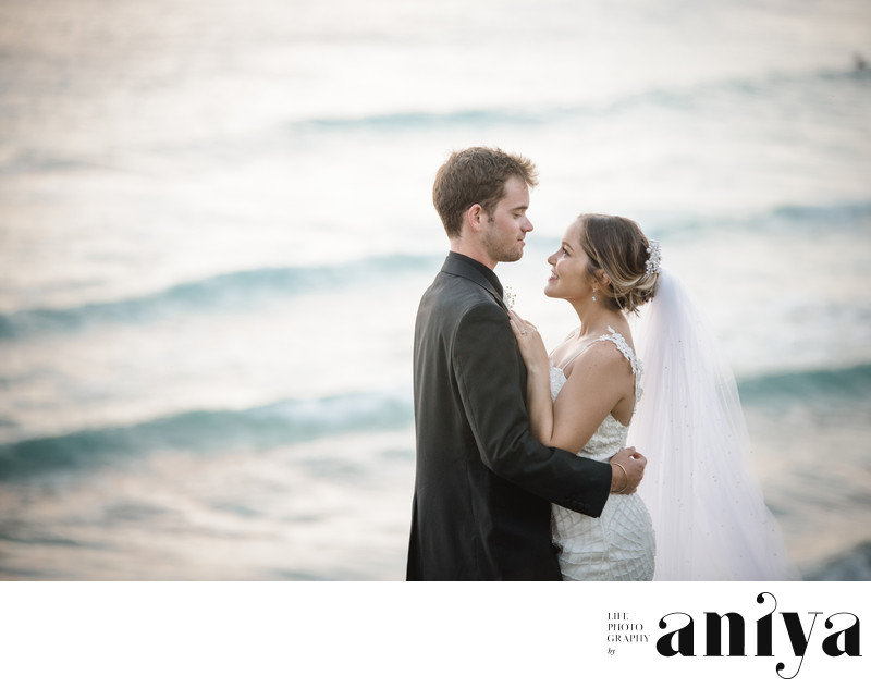 Bride and Groom at Freights Bay - Barbados Wedding Photography