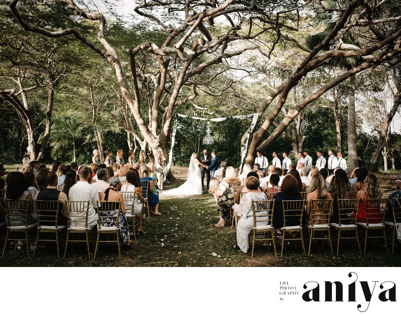 Wedding Ceremony at Halton Great House - Barbados Wedding Photography