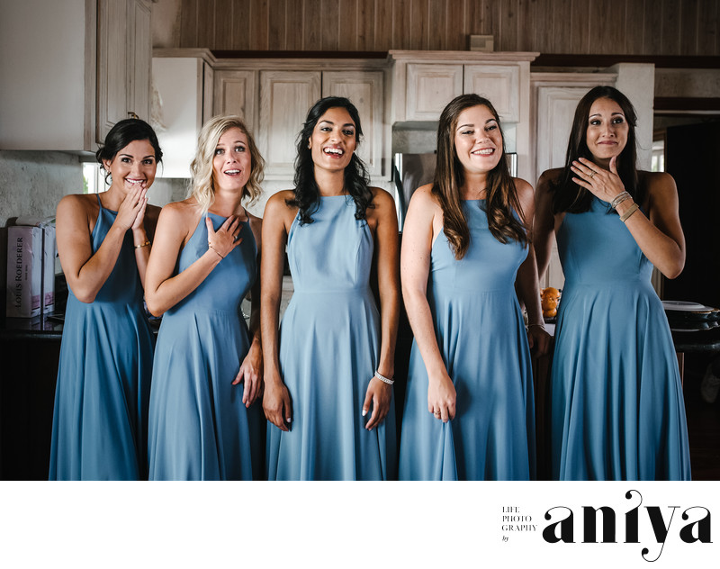 Bridesmaids at Bellevue Plantation - Barbados Wedding Plantation