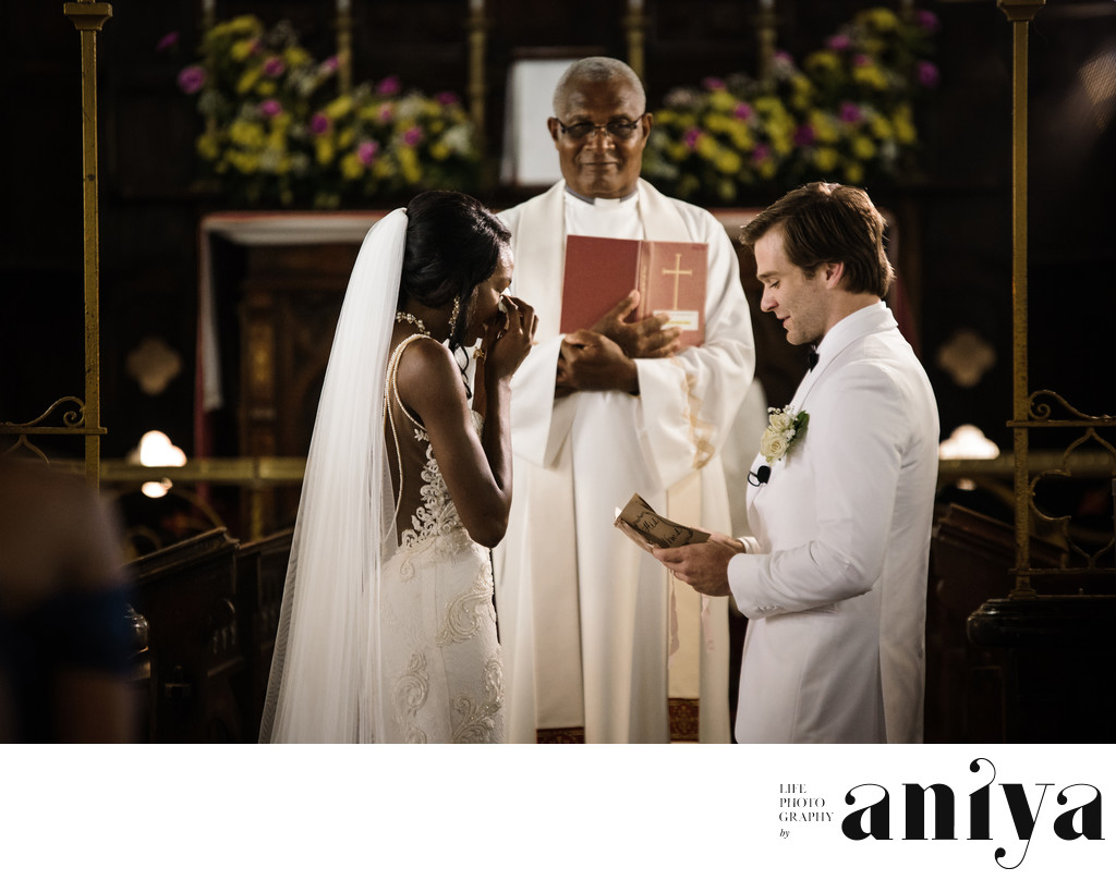 St. John's Parish Church Barbados Wedding Ceremony Photos