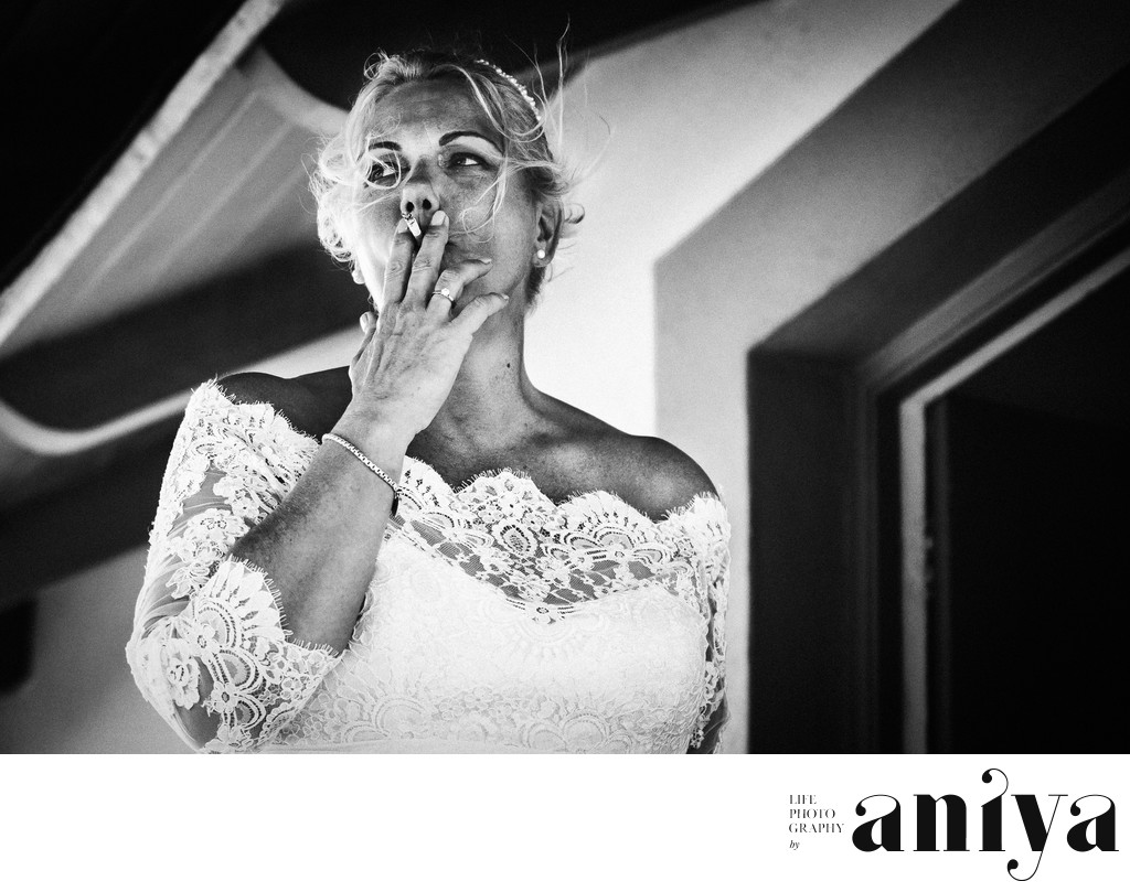 Bride at Crystal Cove Hotel - Barbados Wedding Photographer