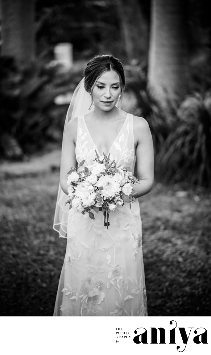 Bride Photo at Lancaster Great House - Barbados Wedding Photographer