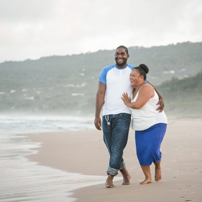 Cattlewash Engagement Photos - Barbados Wedding Photography