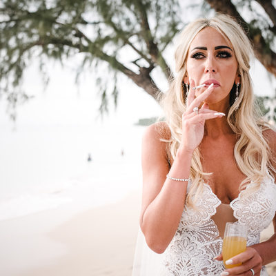 Bride at Lone Star Restaurant & Hotel -Barbados Wedding Photos